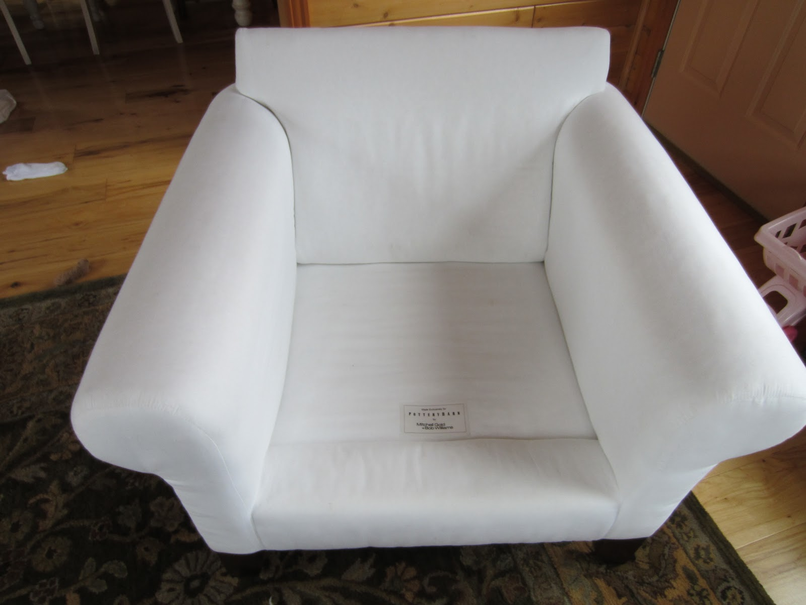 pottery barn anywhere chair cover shrunk sofa loveseat and two chairs left on highland part of pb basic vs ikea ektorp