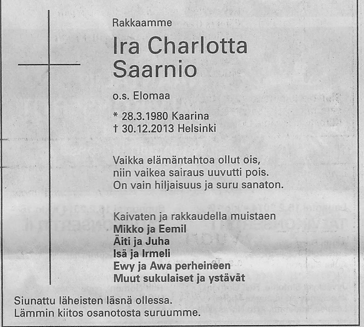 Kuolinilmoitukset Turun Sanomat