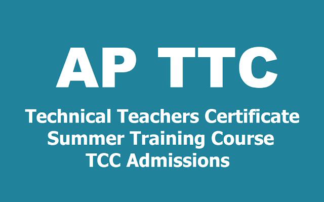 AP TTC Technical Teachers Certificate Summer training course (TCC) Admissions 2019