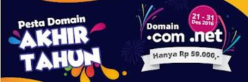 Beli domain [dot]com promo cuma 59 ribu di IDwebhost