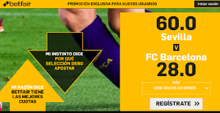 betfair supercuota Sevilla vs Barcelona 12-8-2018