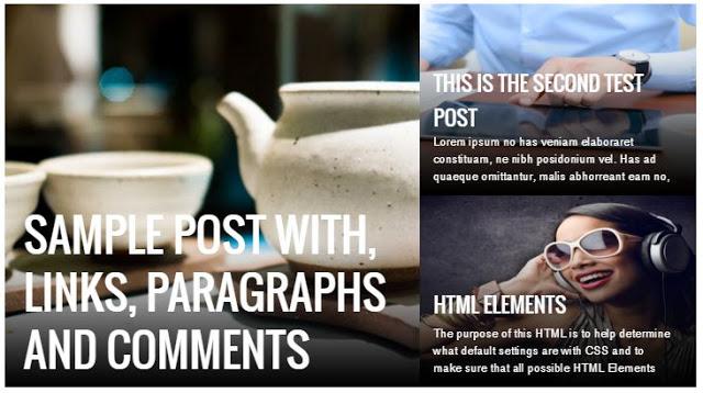 Featured post imagem user friendly Blogger