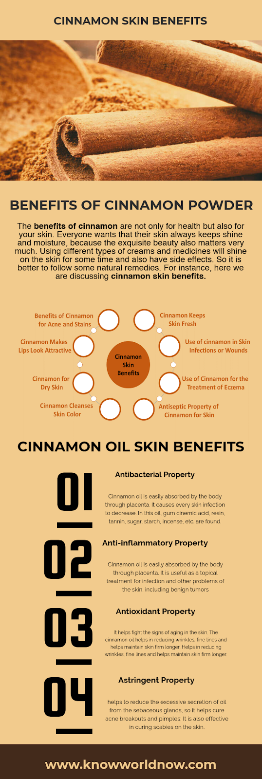 Cinnamon Skin Benefits