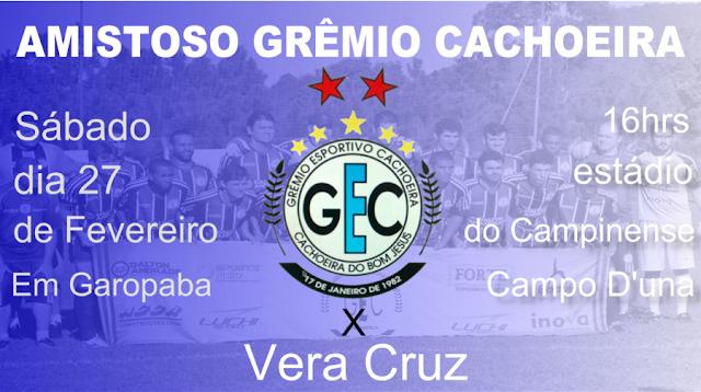 Grêmio Cachoeira joga neste sábado em Garopaba