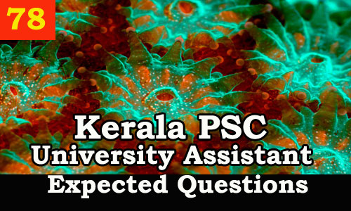 Kerala PSC : Expected Question for University Assistant Exam - 78