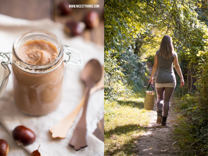 Herbstspaziergang im Wald Maronencreme selber machen Maronencreme Rezept