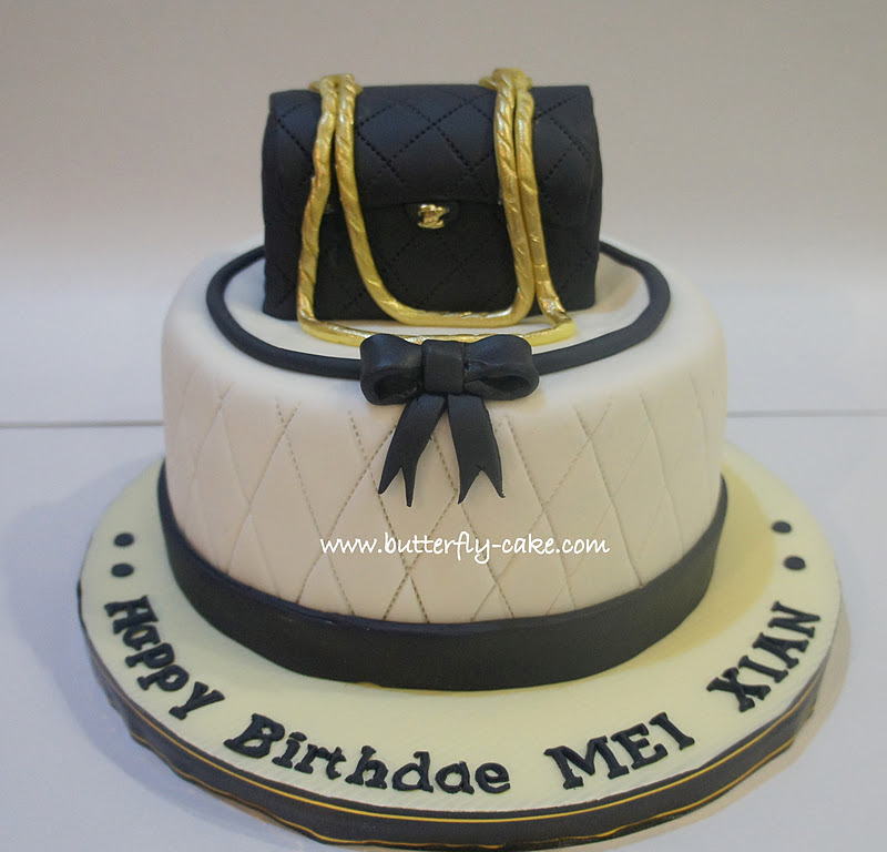 Butterfly Cake 3d Chanel Bag Cake