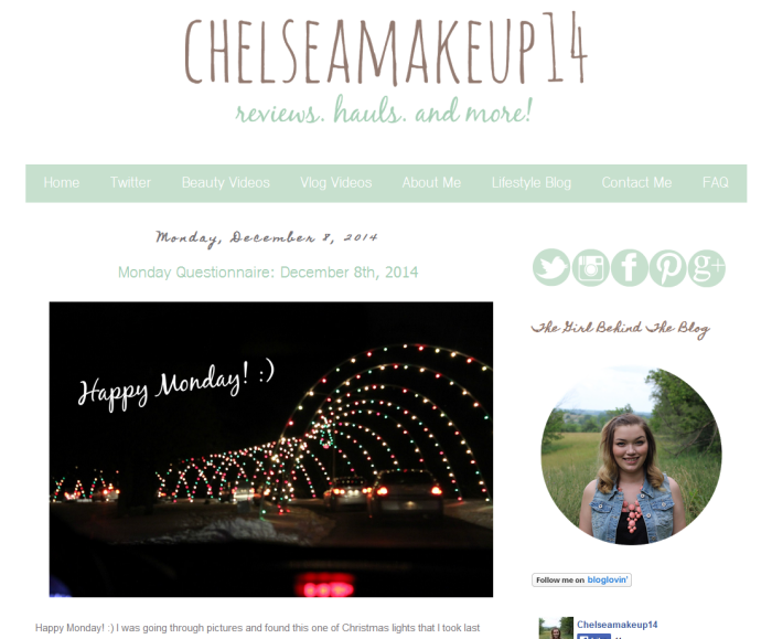 chelseamakeup14 blog of the month