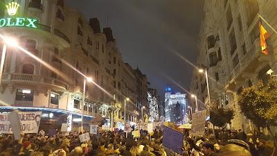 Manifestación por la huelga feminista del 8 de marzo de 2018 en Madrid
