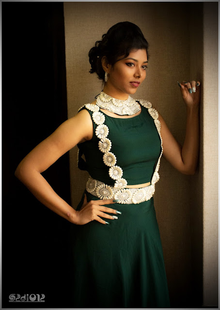 Sharmila Siva: Trendy and Classic Dungree Style Dress