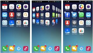 mengubah tampilan android seperti iphone