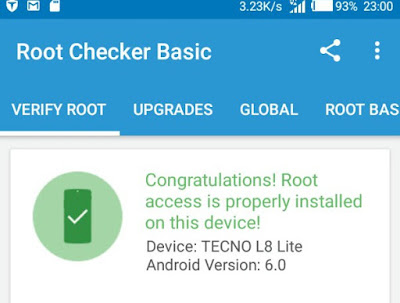 Steps on How to root Tecno L8 Lite smartphone running on Android 6 Marshmallow