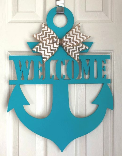 Welcome Anchor Door Hanger