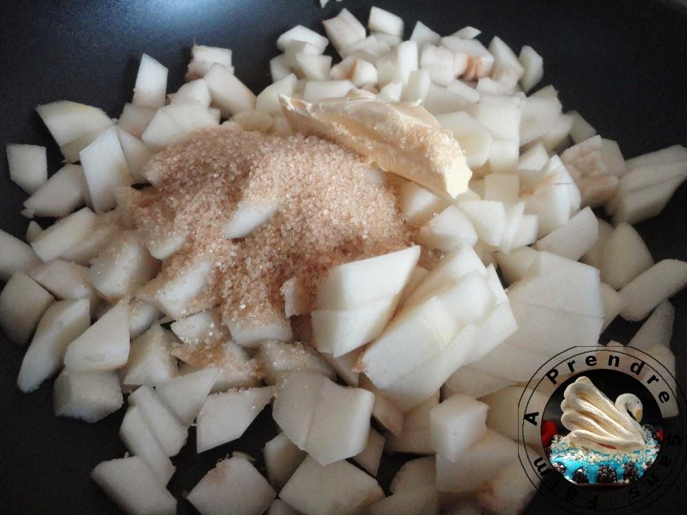 Crumble aux poires (pas à pas en photos)