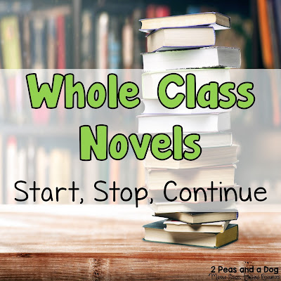 In today's teaching pedagogy, many teachers are abandoning whole class novels for small group novel studies, but whole class novels are still beneficial for today's students. Click to read about novel selection and engaging assignments you can use in your classroom tomorrow from the 2 Peas and a Dog blog.