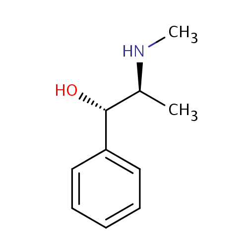 Struktur Pseudoefedrin / Pseudoephedrine