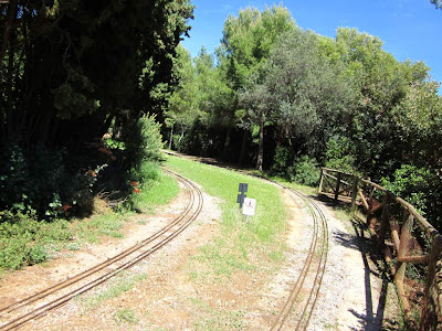 Miniature train in Parc del Castell de l'Oreneta