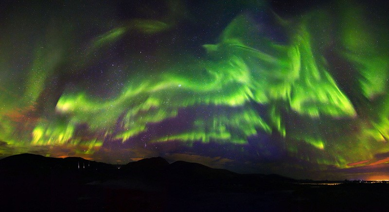 A Phoenix Rises in the Northern Lights Over Iceland