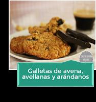GALLETAS DE AVENA, AVELLANAS Y ARÁNDANOS