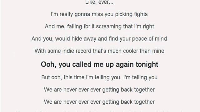 แปลเพลง We Are Never Ever Getting Back Together ภาษาไทย