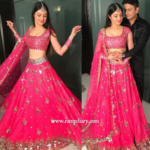 Divya Khosla Kumar in Akanksha Gajaria pink lehenga
