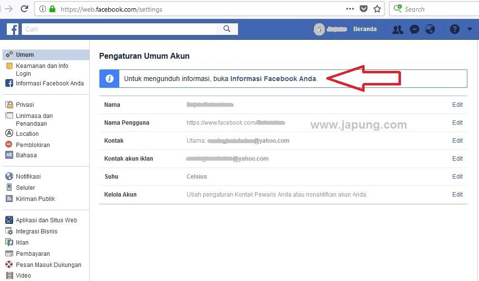 Cara lihat pesan FB terhapus