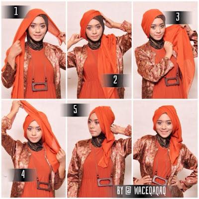 tutorial jilbab segi tiga