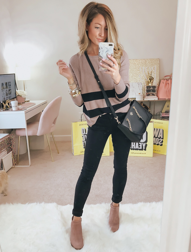 nordstrom bp varsity stripe sweater