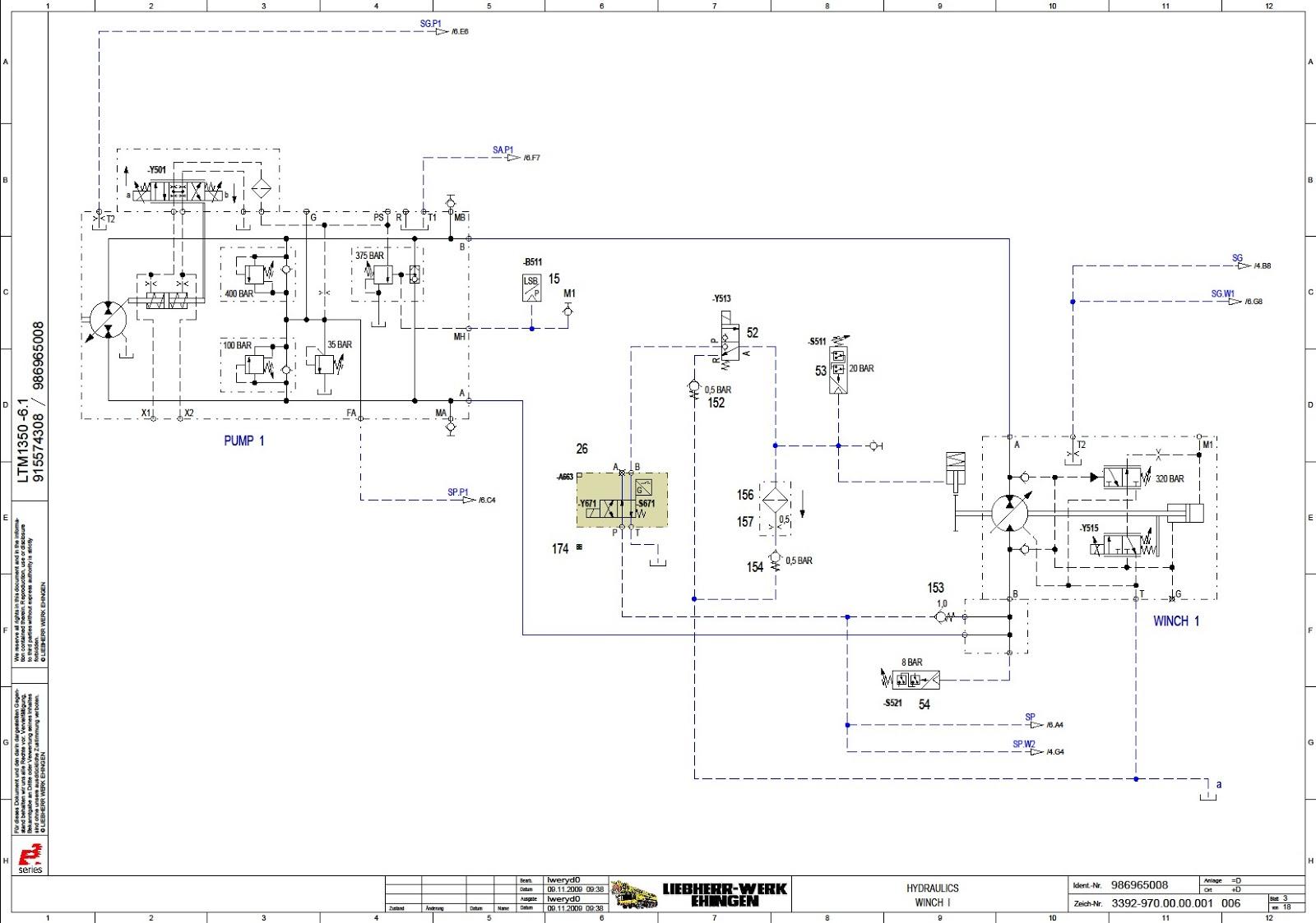 craneinfo ru: Liebherr LTM 1350-6 1 mobile crane  Wiring Diagram