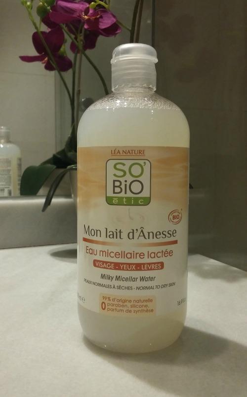 So Bio Ètic Mon lait d'Ânesse Eau Micellaire Lactée