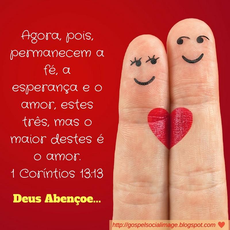 Imagem com texto bíblico de amor - 1 Coríntios 13:13
