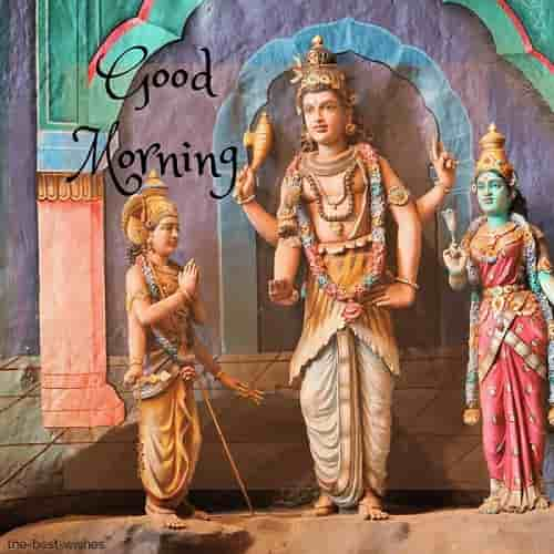 good morning with hindu god images