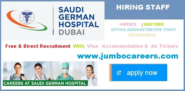 Saudi German Hospital (SGH) Dubai Sharjah Job Openings with Free Visa