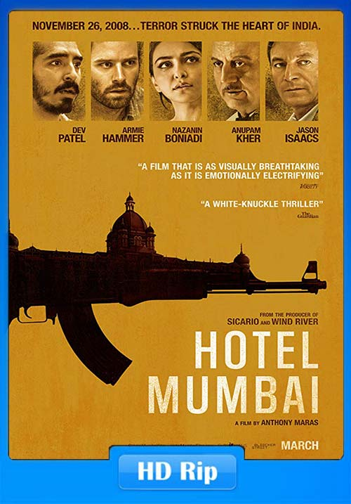 Hotel Mumbai 2018 Hindi 720p BDRip Telegu Tamil  English ESubs x264 | 480p 300MB | 100MB HEVC