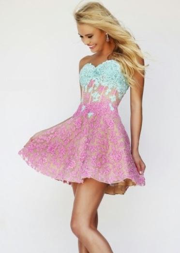 Mujer  Moda y Arte  Vestidos Cortos con Vuelo de Fiesta de Promoción ... fe1455ff9b61