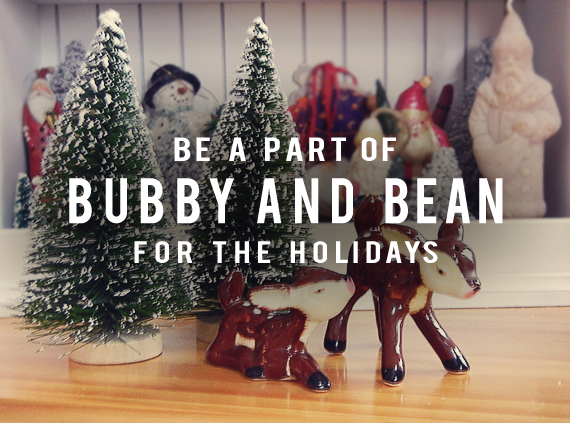 Sponsor Bubby and Bean for the Holidays!