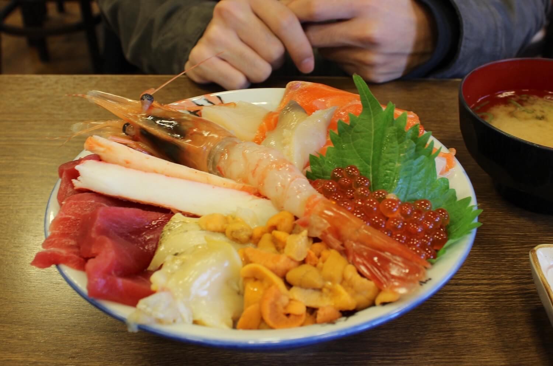 sapporo curb market kaisen don seafood bowl