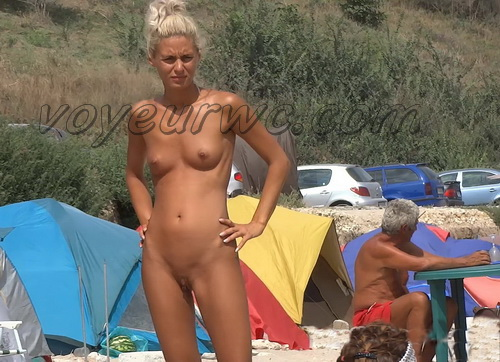 Exquisite random girls on the nudist beach sunbathing (NudeBeach bb15045-15052)