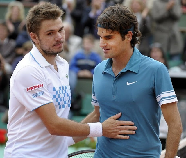 Stanislas Wawrinka and Roger Federer • Tennis Players