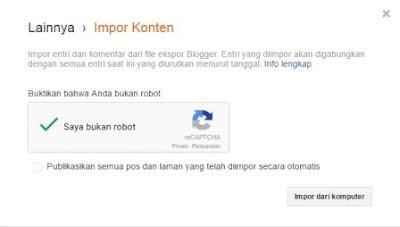Cara Mudah Impor Dan Ekspor Artikel Di Blogspot