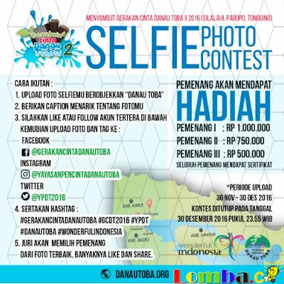 Lomba Foto Selfie Gearakan Cinta Danau Toba II 2016