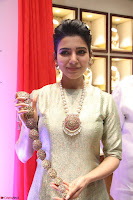 Samantha Ruth Prabhu in Cream Suit at Launch of NAC Jewelles Antique Exhibition 2.8.17 ~  Exclusive Celebrities Galleries 045.jpg