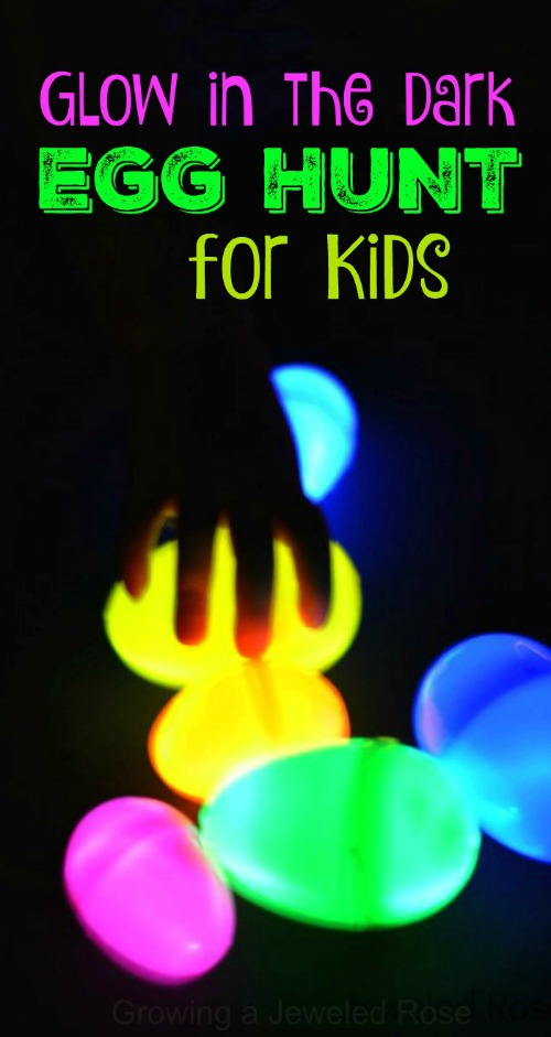 Two easy ways to set up a glow in the dark egg hunt for kids - SO FUN!