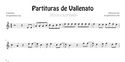 3 Partituras de Vallenato Colombiano Partitura de Alicia Dorada, La Gota Fría y La Casa en el Aire