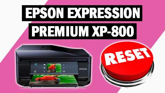 Reset impresora Epson Expression Premium XP-800