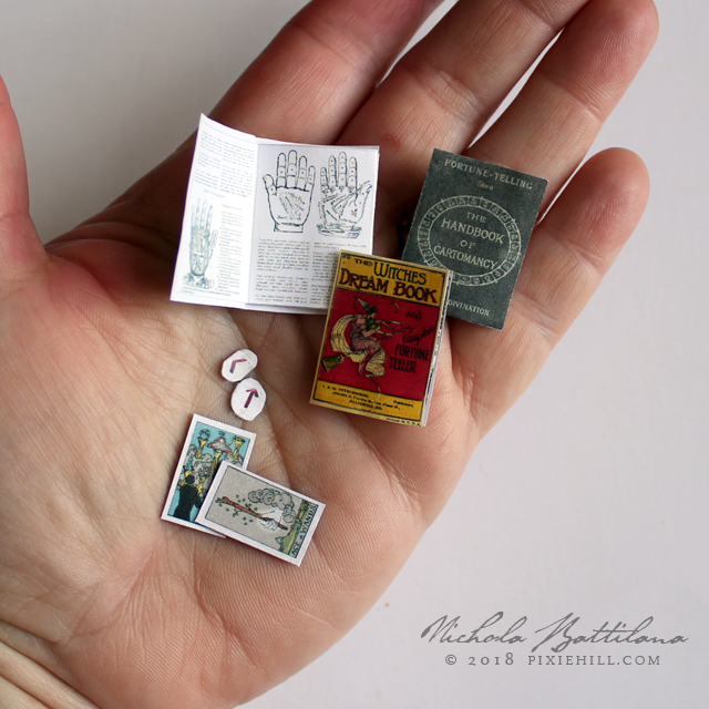 Fortune Telling Miniatures - Collage sheet by Nichola Battilana pixiehill.com