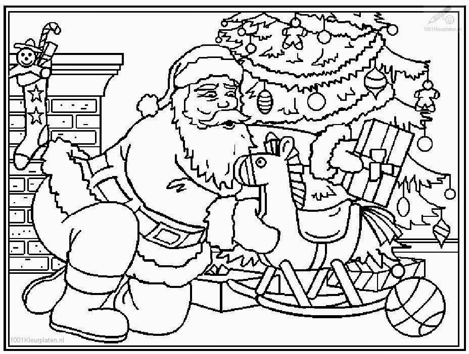 santa coloring printable pages | Coloring Pages: Santa Claus Coloring Pages Free and Printable