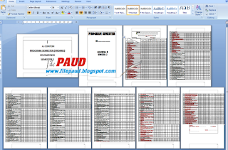Download Contoh Program Semester Paud Semester 2 Kelompok B