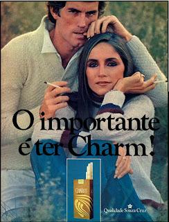 Anúncio Cigarros Charm - 1978. propaganda anos 70; história decada de 70; reclame anos 70; propaganda cigarros anos 70; Brazil in the 70s; Oswaldo Hernandez;