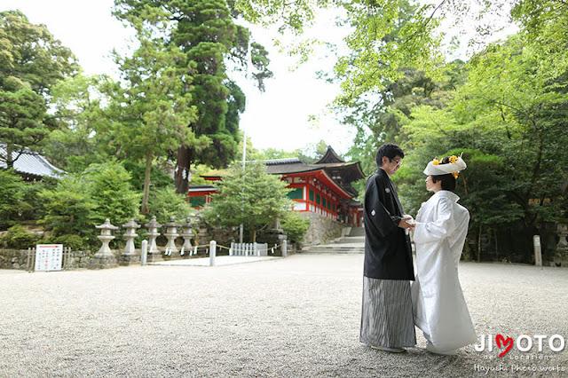 石上神宮での挙式撮影